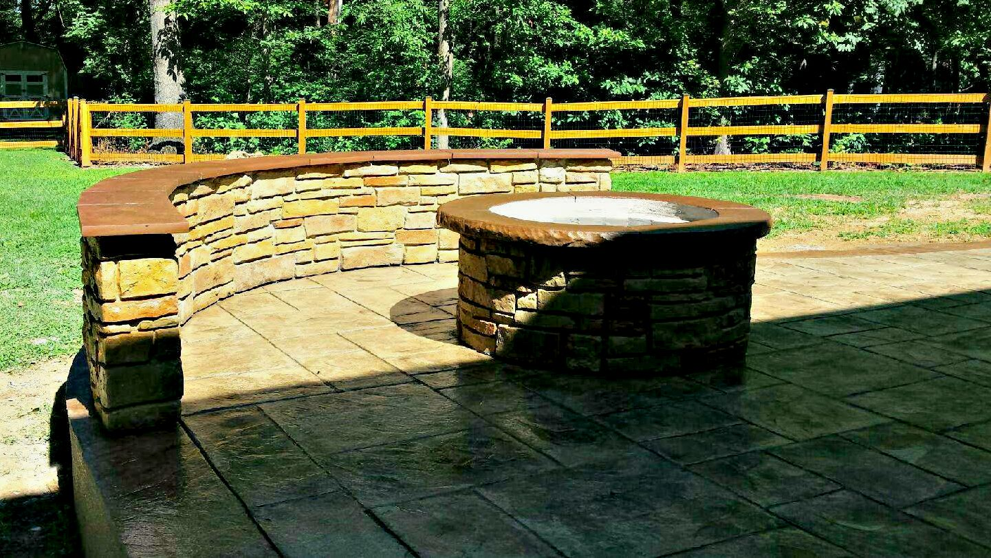 Decorative Knee Wall and Stamped Driveway | Blackwater