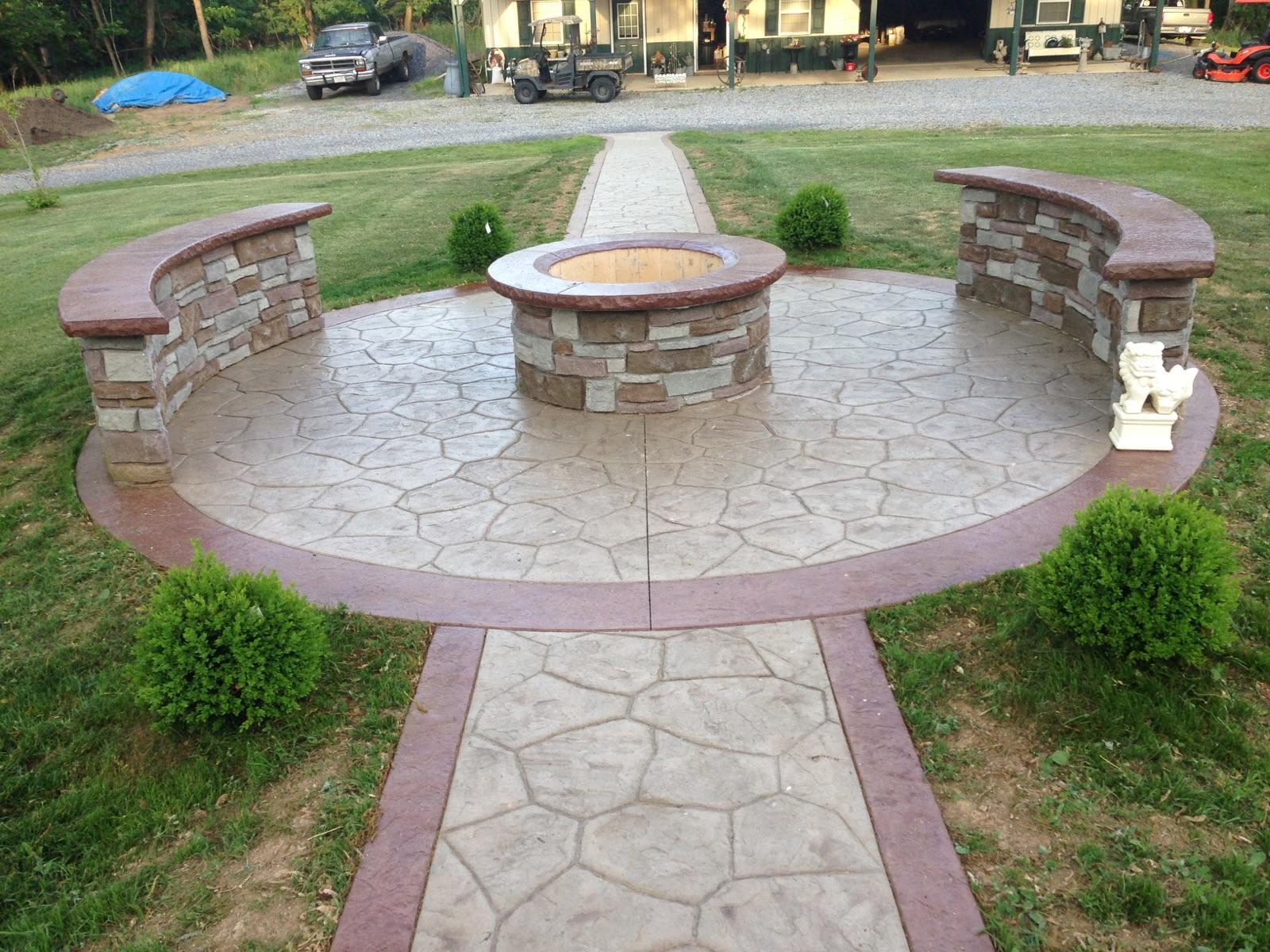 Stamped Concrete Counters : Blackwater concrete decorative