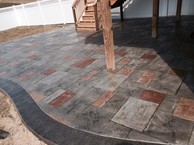 Multi Color Stamped Concrete Patio ...