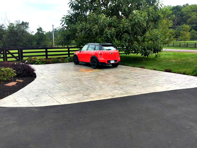 Custom Driveway Sidewalk Combo