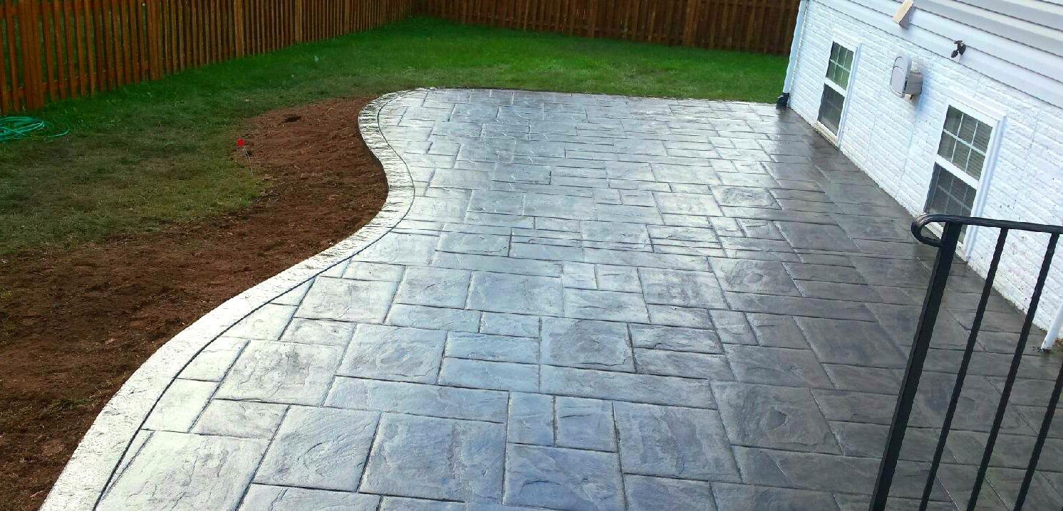 Curved Concrete Patio Blackwater Concrete