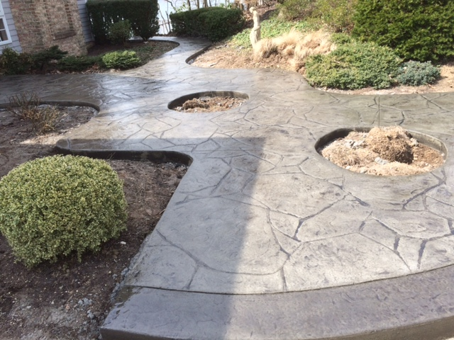Custom Concrete Designs with holes for planting