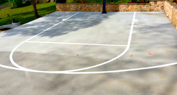 Custom Concrete Basketball Court