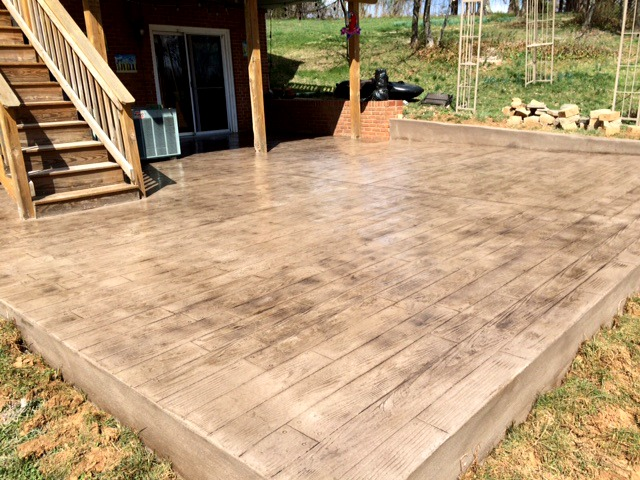 Stamped Concrete Patio Looks Like Wood : Woodplank stamp patio blackwater concrete gore va