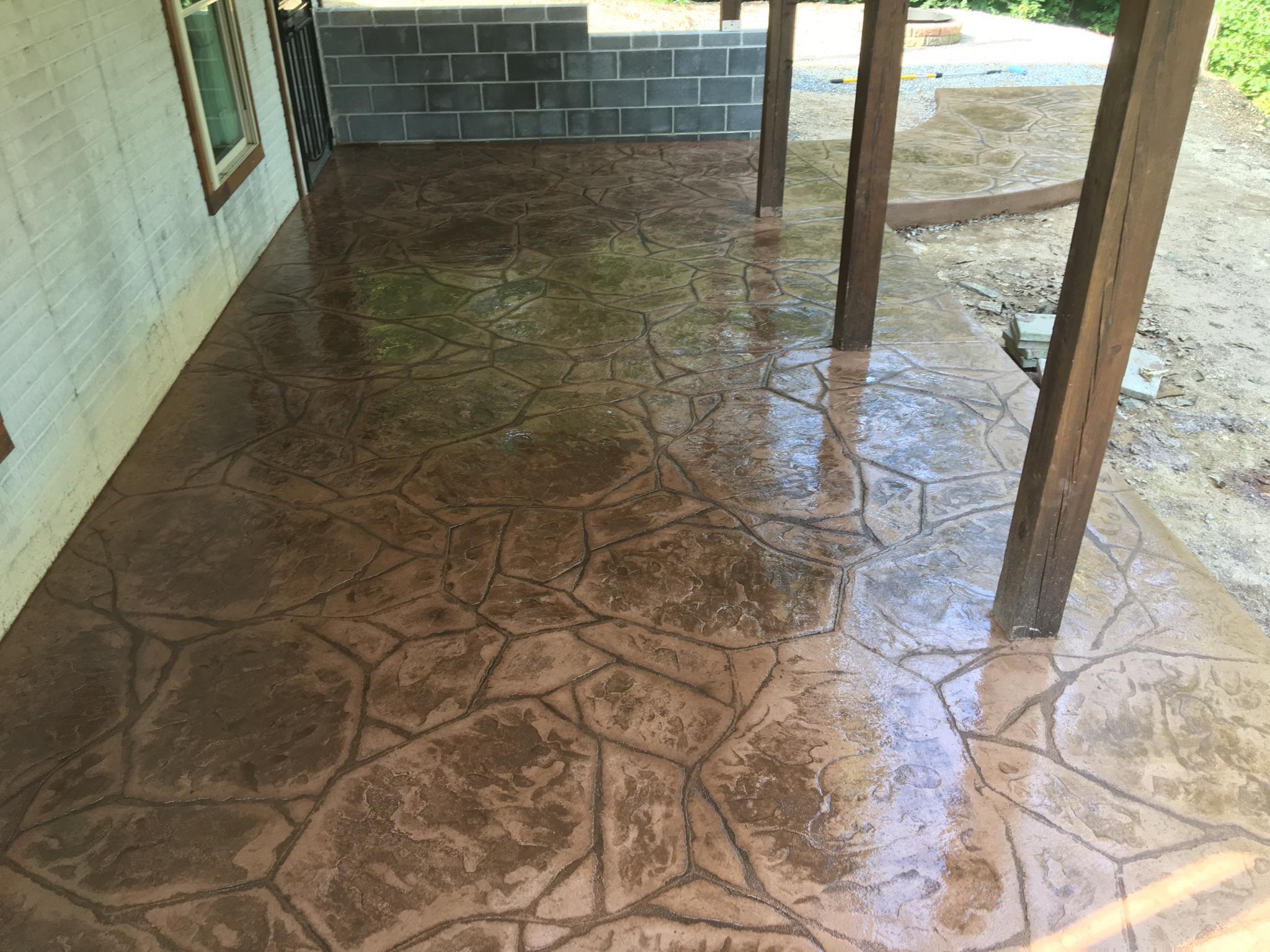 Small Concrete Patio Big Impact