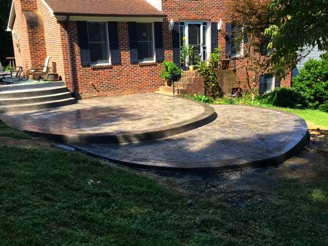 Beautiful Multi Level Stamped Concrete Patio