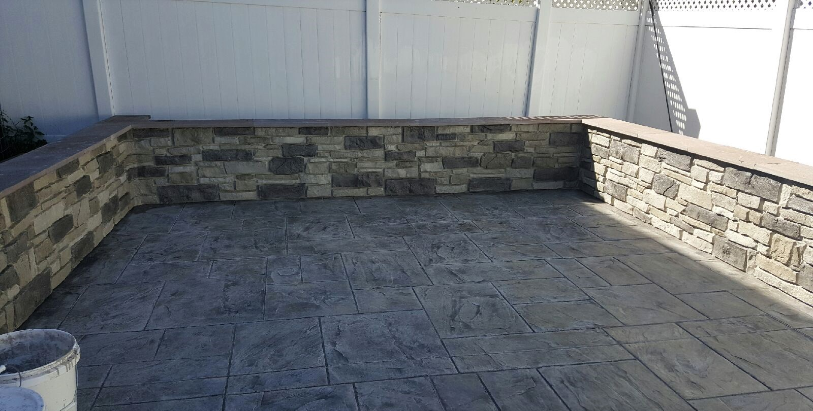 Custom Knee Walls in Northern Virginia, designed and installed by Blackwater Designer Concrete