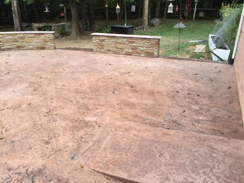 Seamless Texture Patio with Borders and Decorative Concrete Wall