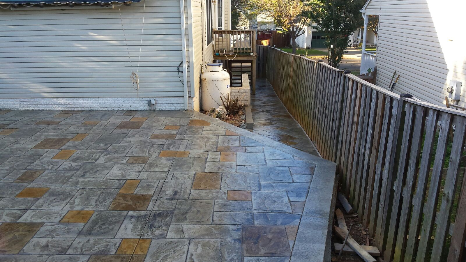 Hand stained concrete finishes blackwater concrete for Elegant patios