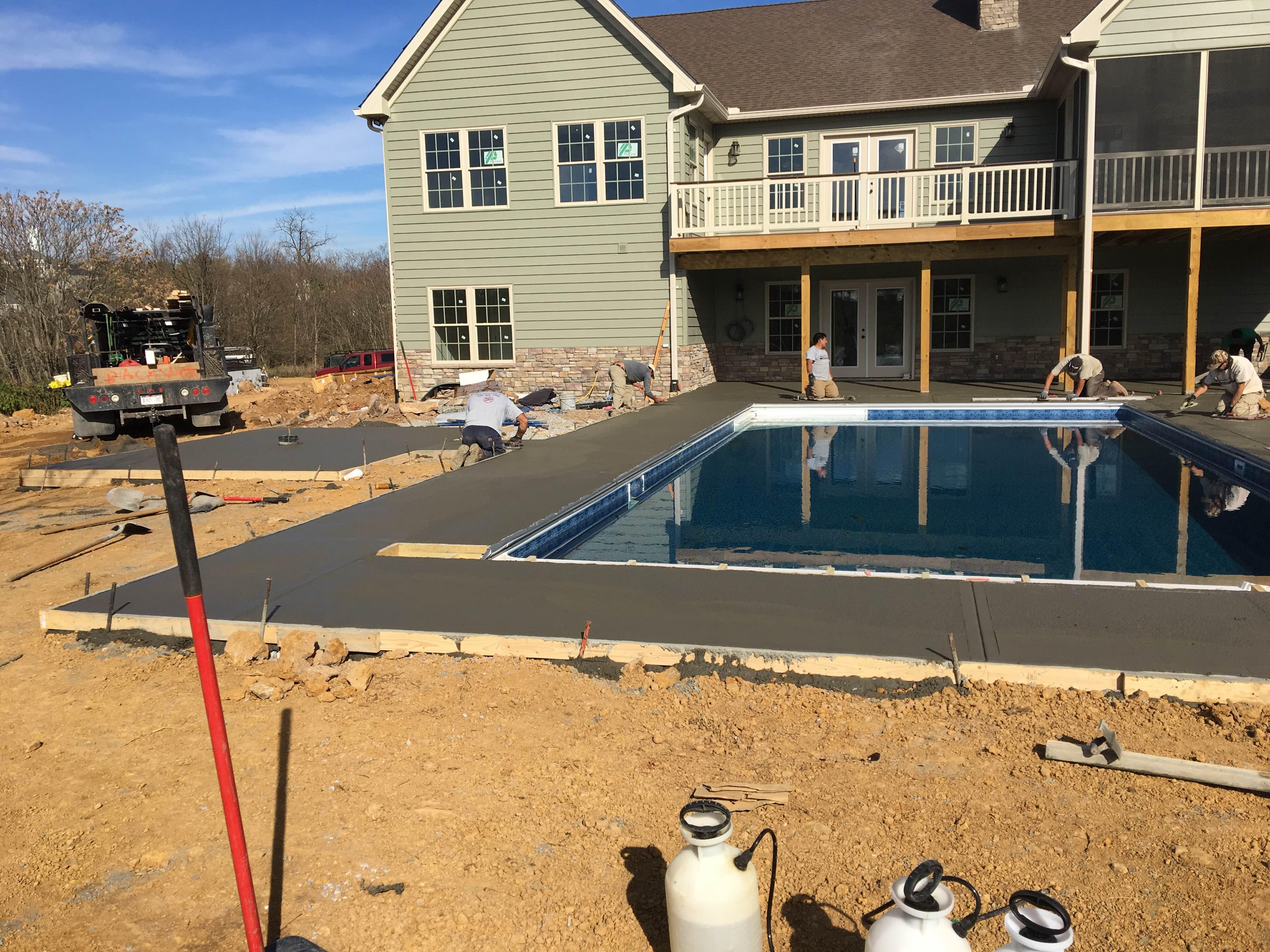 Concrete Pool Surround in Northern Virginia | Blackwater Designer Concrete