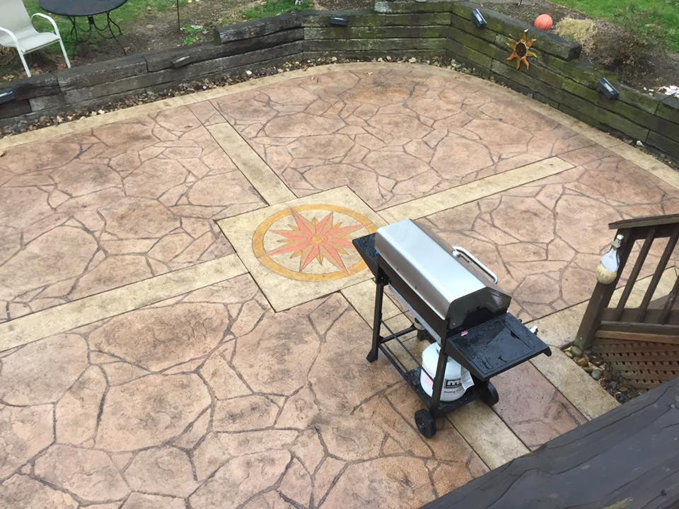 cleaning and maintaining stamped concrete