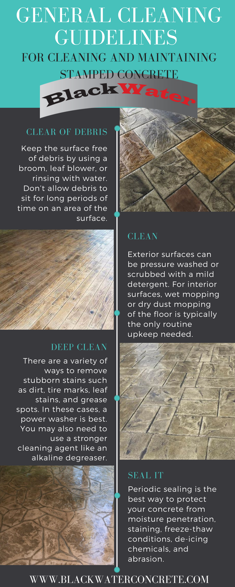 guidelines for cleaning and maintaining stamped concrete