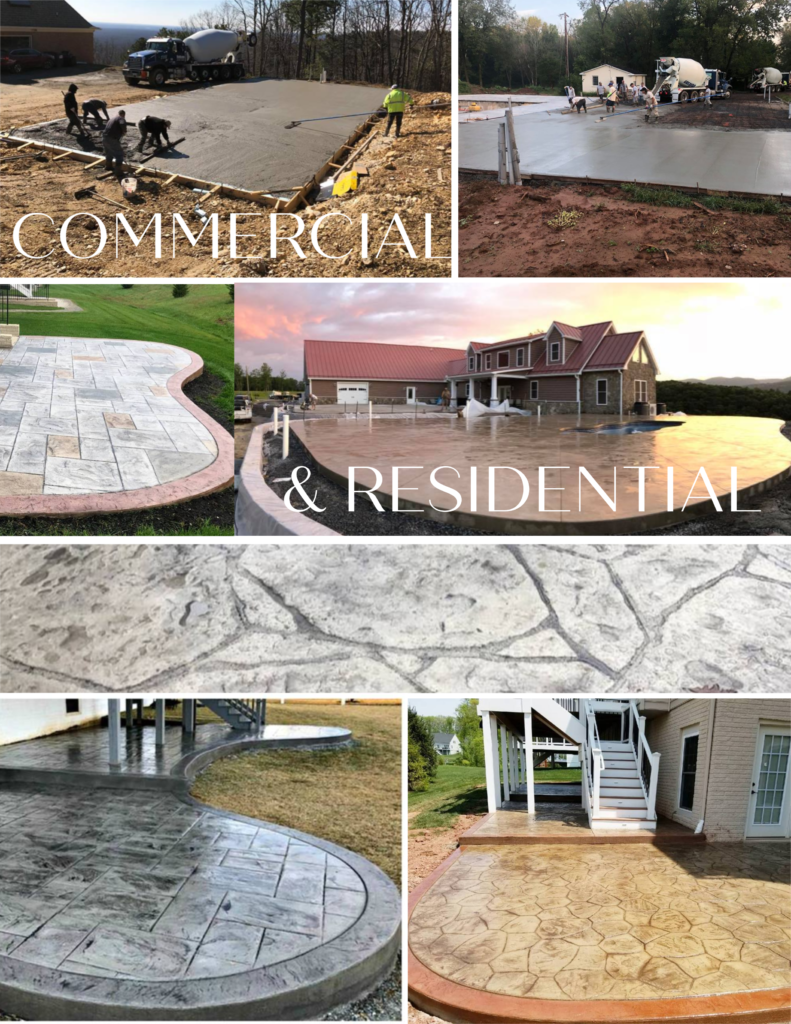 residential and commercial concrete